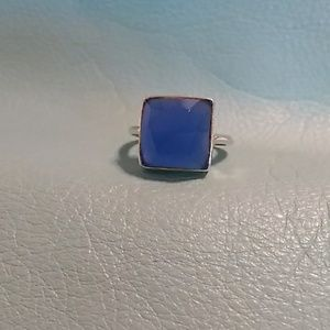 A Pretty Faceted Blue Chalcedony